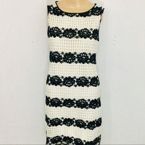 MAX STUDIO Lace overlay dress - Sz S